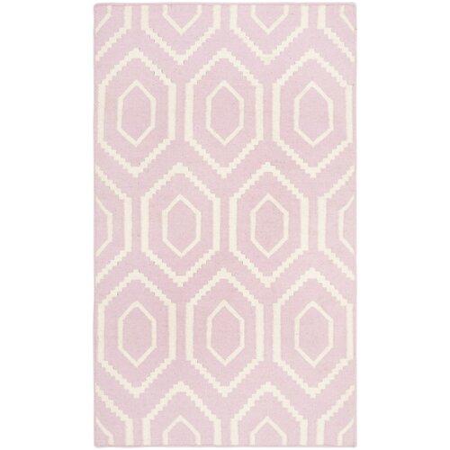 Safavieh Dhurries Pink & Ivory Area Rug