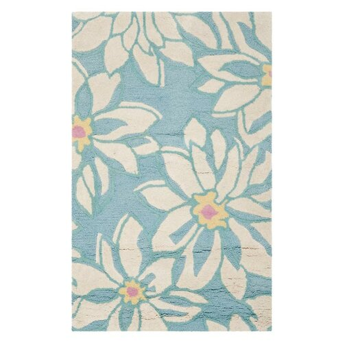 Blossom Light Blue/Ivory Floral Rug