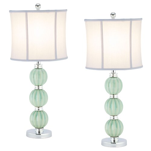 """Safavieh Mia 25"""" H Table Lamp with Drum Shade"""