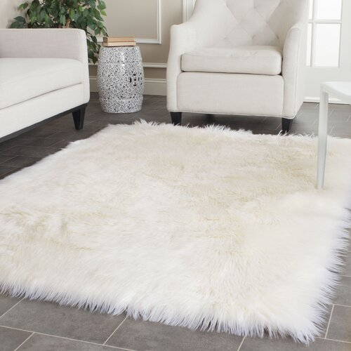 Safavieh Faux Sheep Skin Ivory Area Rug u0026 Reviews : Wayfair