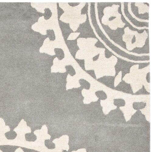 safavieh soho light grey ivory rug - Tunkie