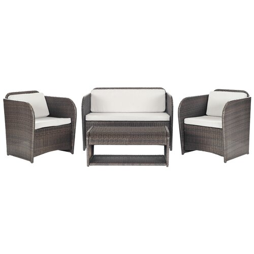 Caprina 4 Piece Deep Seating Group with Cushion
