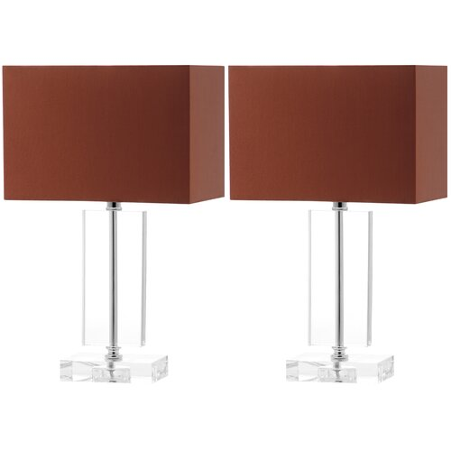 moderne h table lamp with rectangular shade reviews w. Black Bedroom Furniture Sets. Home Design Ideas