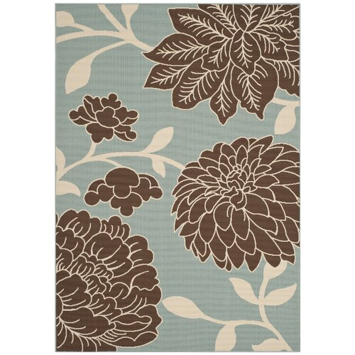Hampton Light Blue / Brown Outdoor Rug