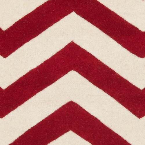 Safavieh Chatham Red/Ivory Chevron Rug