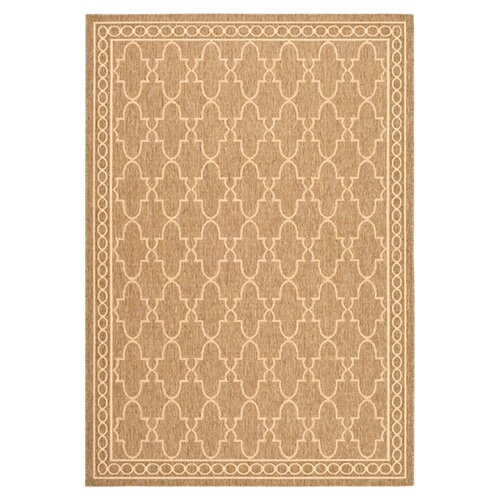 Safavieh Courtyard Coffee/Sand Outdoor Rug
