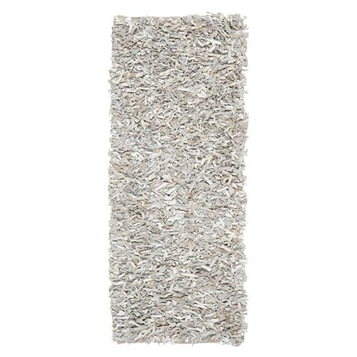 Safavieh Leather Shag White Rug