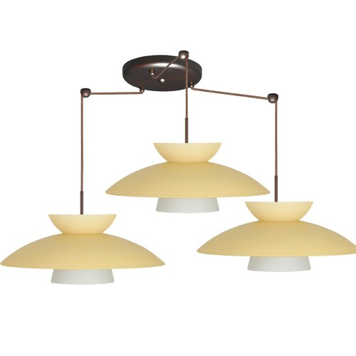 Besa Lighting Mesa 3 Light Pendant