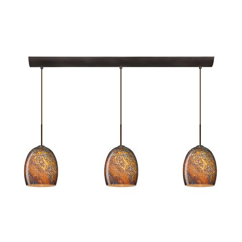 Lucia 3 Light Pendant with Bar Canopy
