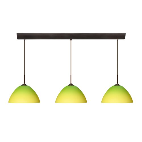 Tessa 3 Light Pendant with Bar Canopy