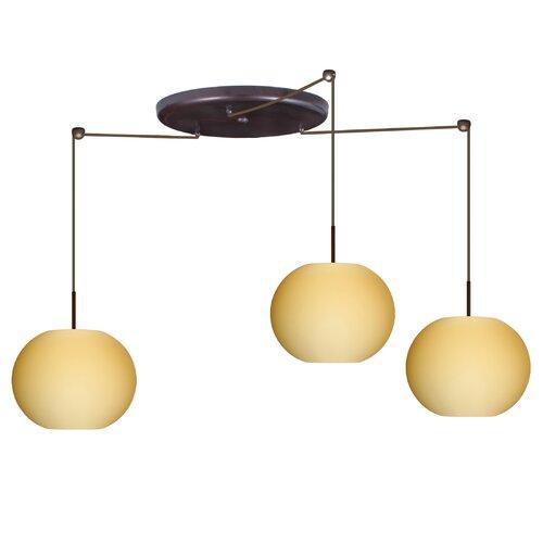 Besa Lighting Luna 3 Light Globe Pendant