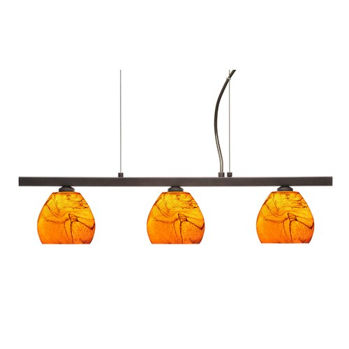 Besa Lighting Tay Tay 3 Light Linear Pendant