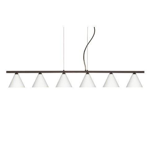 Kani 6 Light Cable Hung Linear Pendant