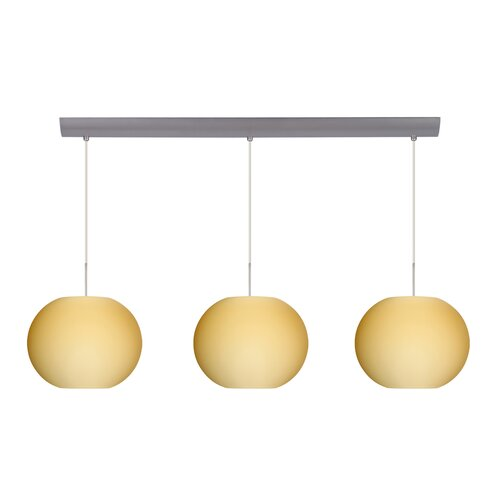 Luna 3 Light Cord Hung Globe Pendant with Bar Canopy