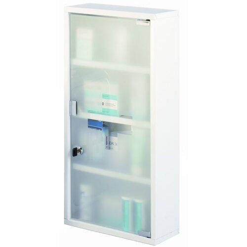 Zeller Present Medizinschrank groß in Weiß mit Glastür
