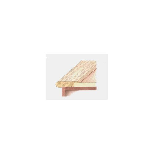 "Mohawk Flooring 2.6"" Stair Nose Laminate Trim"