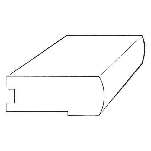 "Mohawk Flooring 0.38"" Engineered Flush Stair Nose Hardwood Trim"