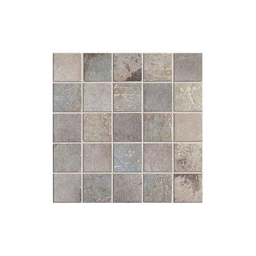 "Mohawk Flooring Slate 2"" x 2"" Quarry Stone Decorative Mosaic Blend in Dark"