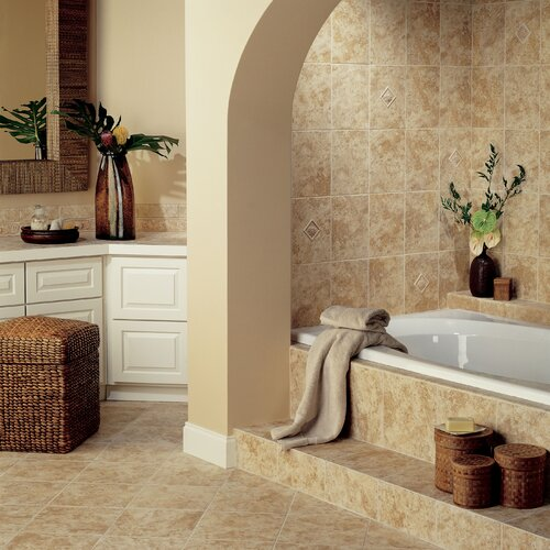 "Mohawk Flooring Natural Ristano 12"" x 9"" Decorative Accent Wall Tile in Noce"