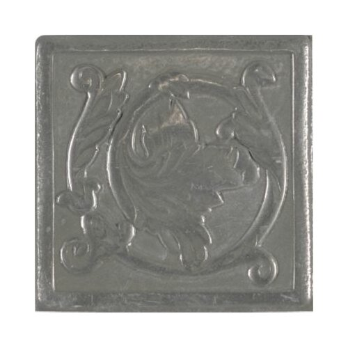 "Mohawk Flooring Artistic Accent Statements Metal 2"" x 2"" Scrolling Leaf Decorative Corner/Insert in Vintage Pewter"