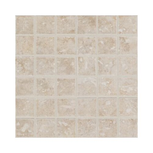 "Mohawk Flooring Steppington 2"" x 2"" Mosaic Floor Tile in Provincial Pearl"