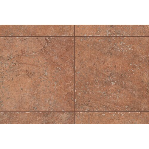 "Mohawk Flooring Rustic Egyptian Stone 1"" x 1"" Quarter Round Corner Tile Trim in Luxor Red"