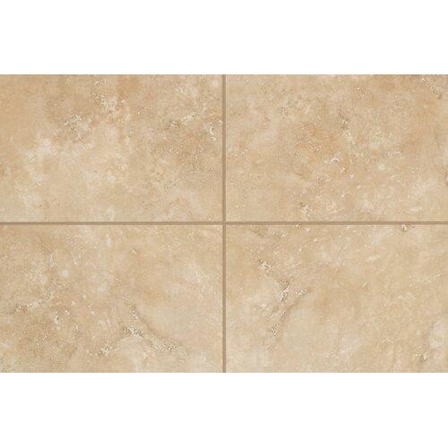 "Mohawk Flooring Natural Mirador 13"" x 3"" Bullnose Tile Trim in Golden Amber"