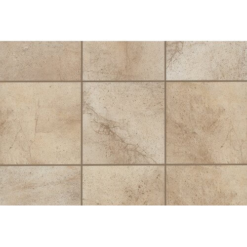 "Mohawk Flooring Sardara 12"" x 3"" Bullnose Tile Trim in Cathedral Beige"