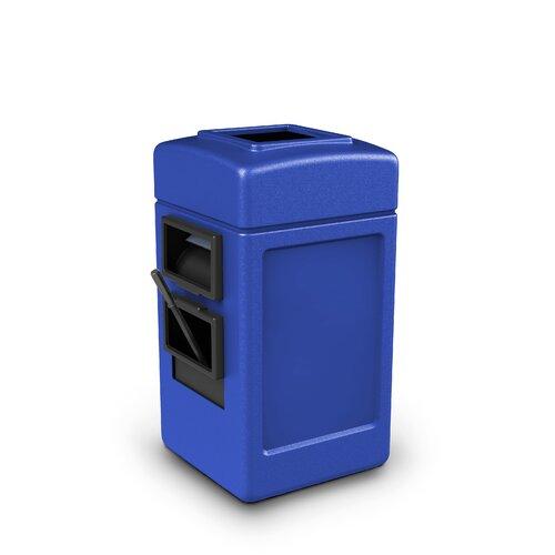 Commercial Zone 25 Gallon Square Waste and Wipe Service Center