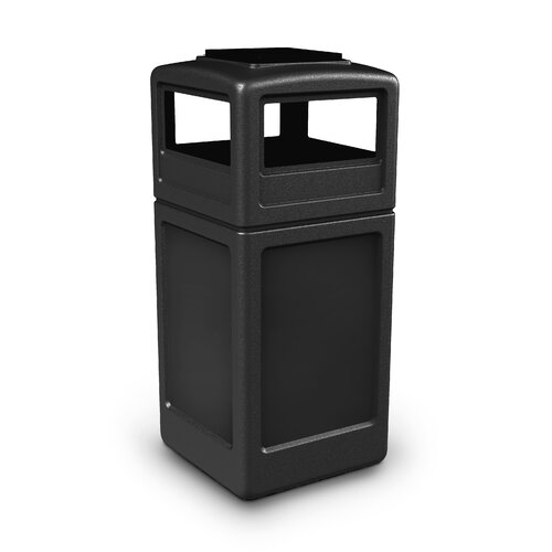 Commercial Zone 42 Gallon Square Waste Container with Ashtray Dome Lid