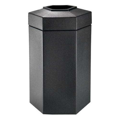 Commercial Zone 50-Gallon Hex Waste Container in Black
