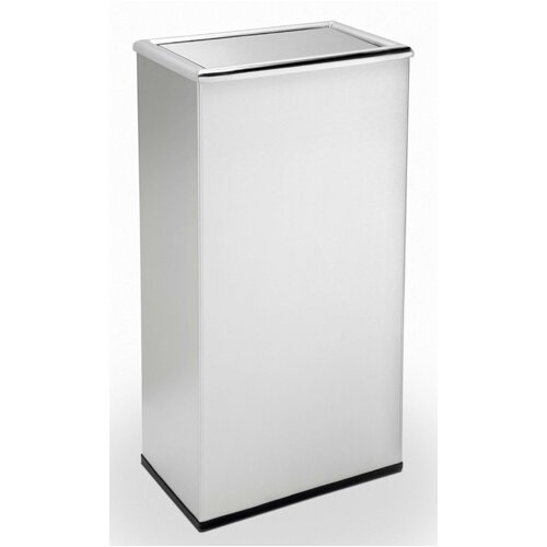 Commercial Zone Precision Series Rectangular Trash Can with Swivel Lid