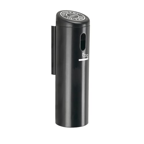 Commercial Zone Wall-Mounted Locking Ashtray with Swivel Cigarette Receptacle