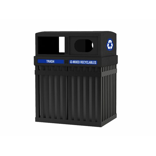 Commercial Zone ArchTec Parkview 50 Gallon Multi Compartment Recycling Bin