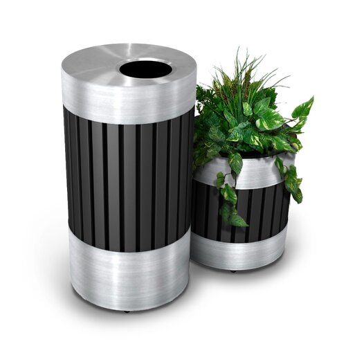 Commercial Zone Riverview Trash Receptacle