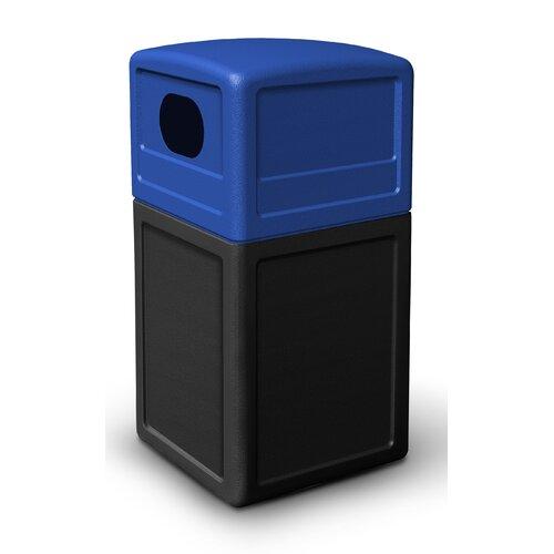 Commercial Zone Green Zone 38 Gallon Multi Compartment Recycling Bin