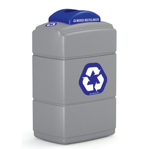 Commercial Zone Green Zone 40 Gallon Industrial Recycling Bin