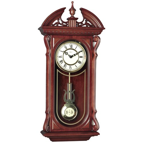 Cherry Wood Wall Clock Wayfair