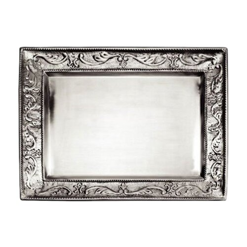 Old Dutch International Embossed Pewter Rectangular Serving Tray
