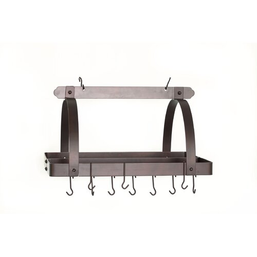 Old Dutch International Decor Pot Rack with Grid and Hooks