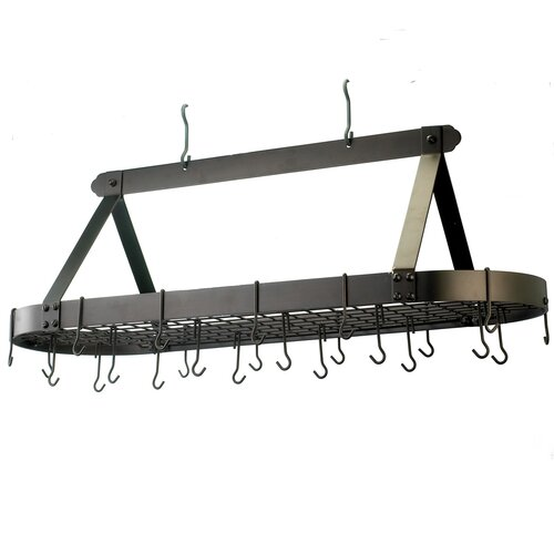 Oval Pot Rack with 24 Hooks