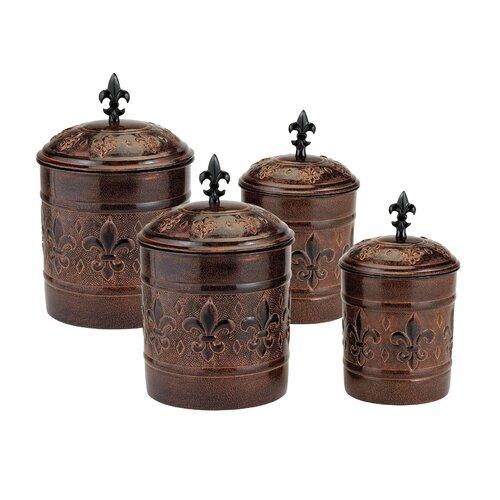 Old Dutch 4 Piece Versailles Decorative Canister Set Reviews Wayfair