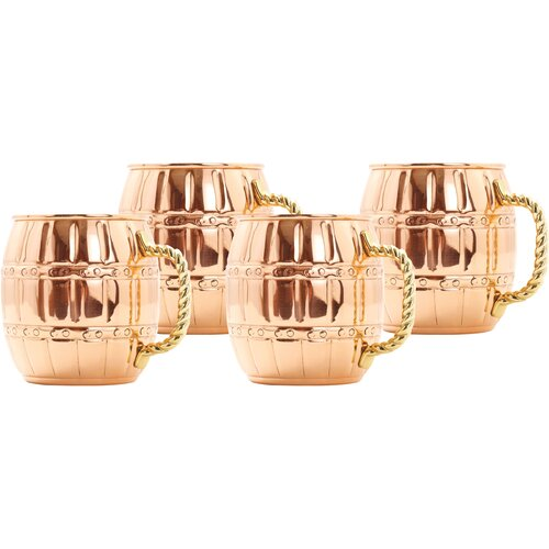 Moscow Barrel Mule Mug (Set of 4)