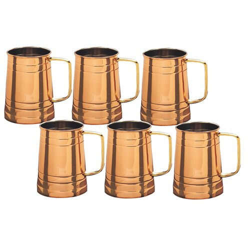 Copper Tankard (Set of 6)