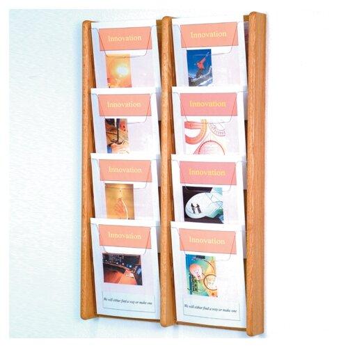 Wooden Mallet 8 Pocket Wall Display