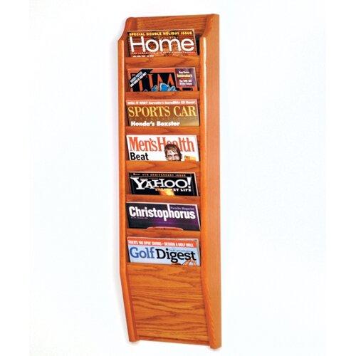 Wooden Mallet 7 Pocket Wall Mount Magazine Rack