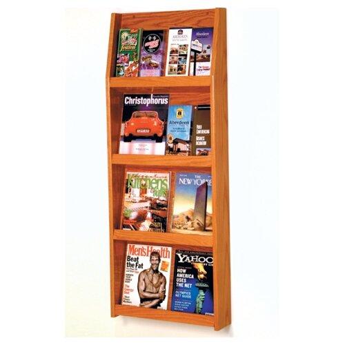 Wooden Mallet 8 Pocket Magazine / 16 Pocket Brochure Wall Display