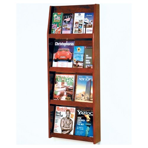 Wooden Mallet 8 Pocket Magazine / 16 Pocket Brochure Wall Display