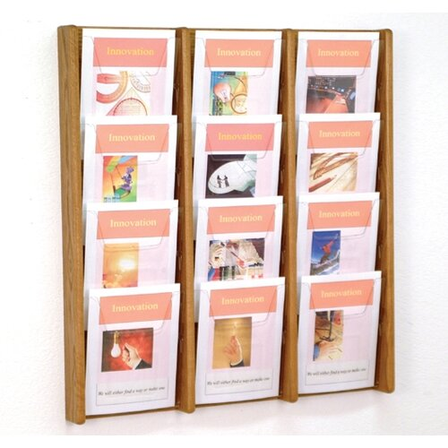 Wooden Mallet 12 Pocket Wall Display