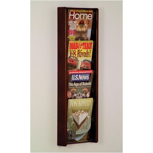 Wooden Mallet 4 Pocket Wall Display